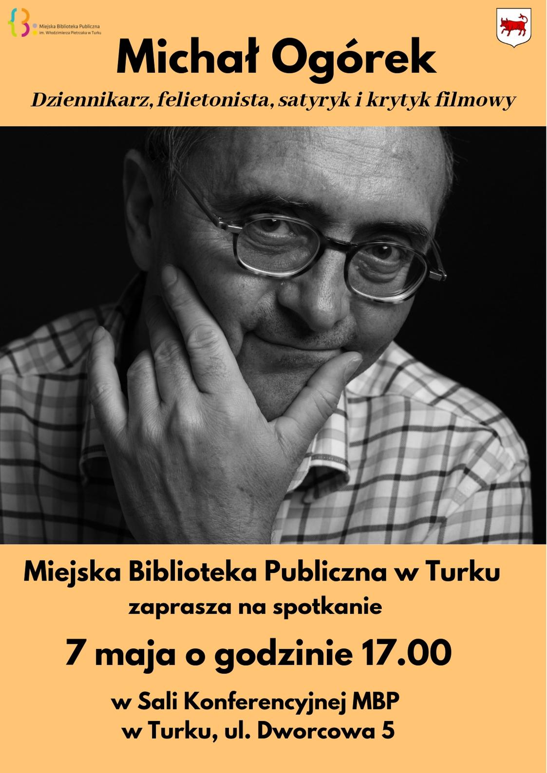 Czytaj więcej o: Michał Ogórek odwiedzi turkowską Bibliotekę