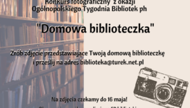 """Czytaj więcej o: Konkurs fotograficzny """"Domowa biblioteczka"""""""