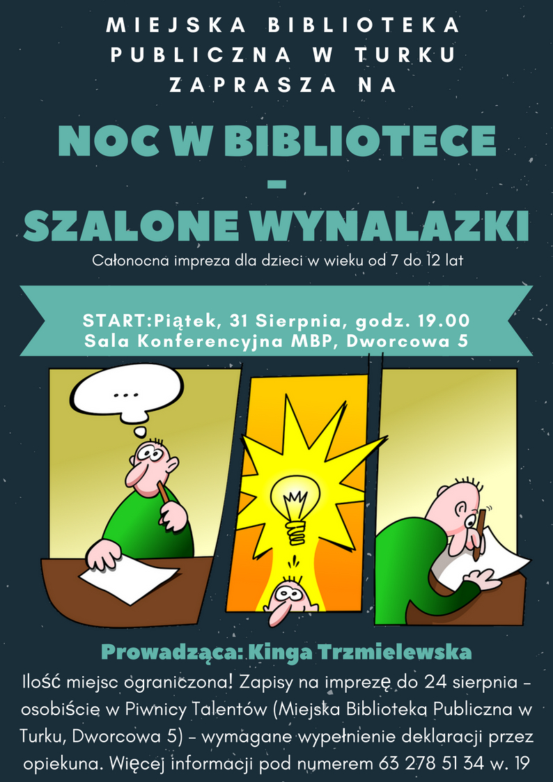 Czytaj więcej o: NOC w BIBLIOTECE – startują zapisy