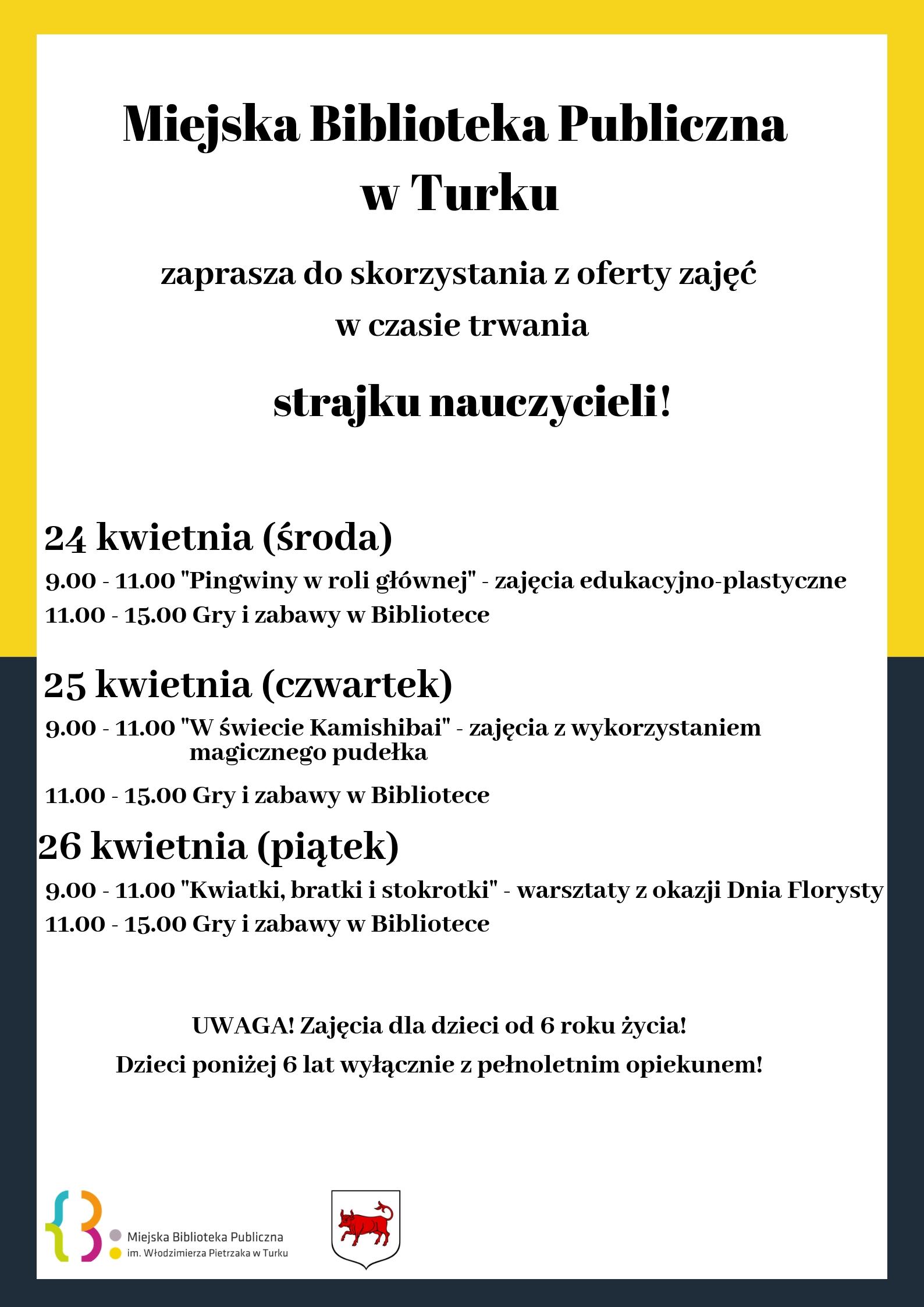 Czytaj więcej o: Oferta zajęć w czasie trwania strajku nauczycieli!