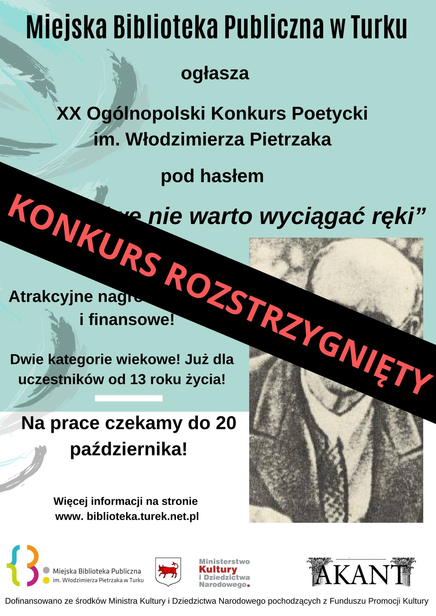 Czytaj więcej o: XX Ogólnopolski Konkurs Poetycki im. Włodzimierza Pietrzaka rozstrzygnięty